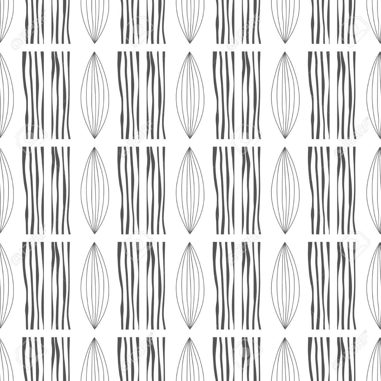 Abstract Background Seamless Pattern Black And White Illustration