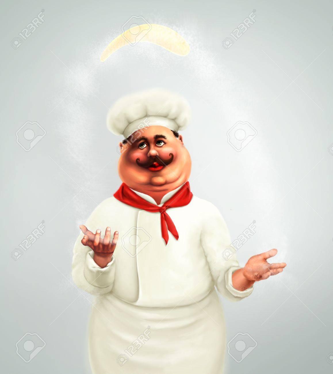 chef making pizza Stock Photo - 10344589