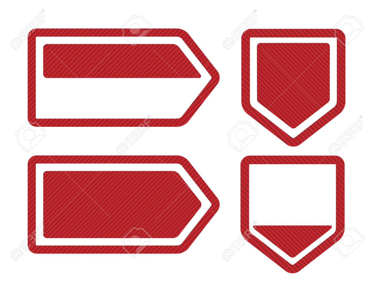 Set of Four Red Bookmarks Stock Vector - 15196970