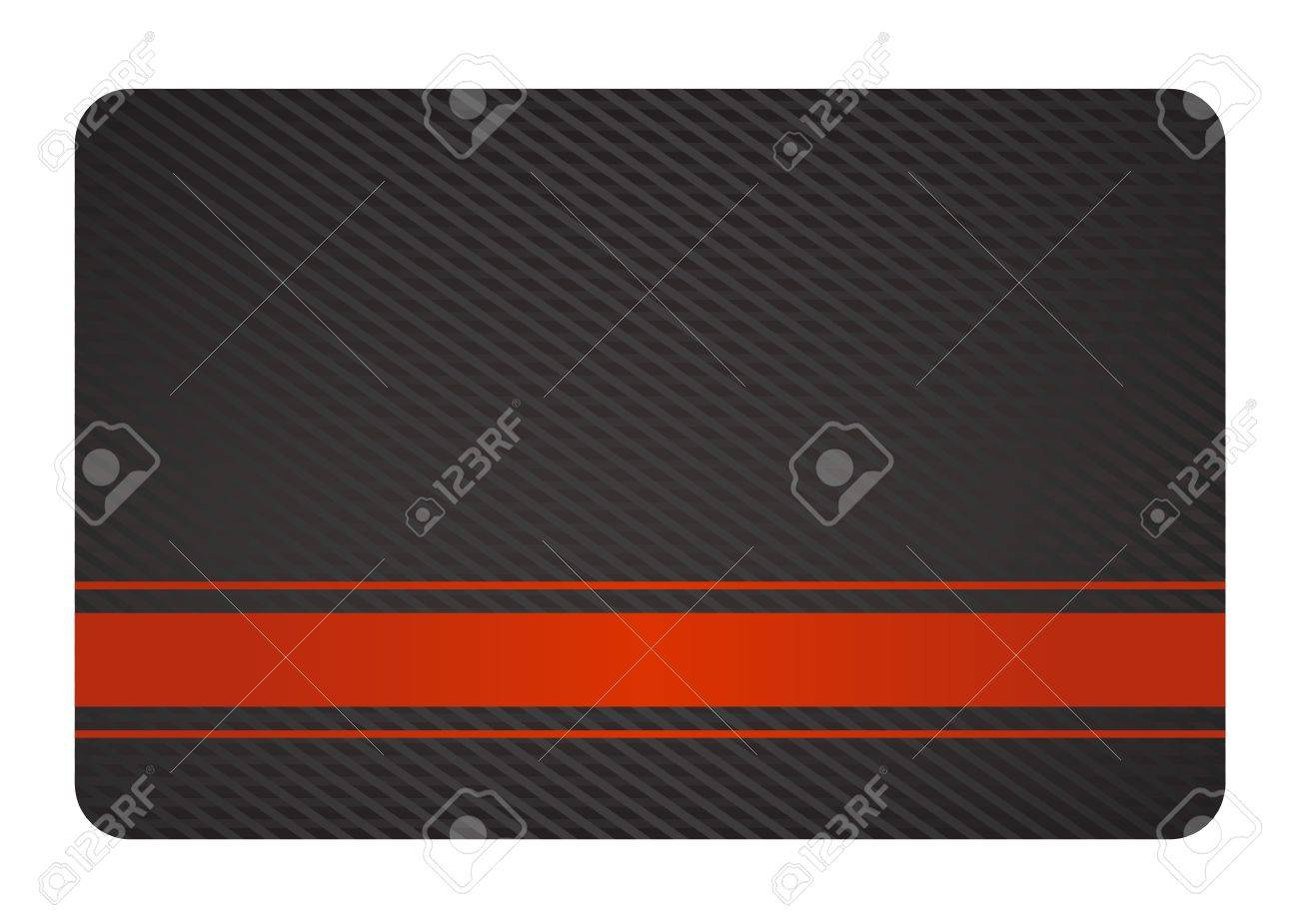 Black Business Card with Texture and Red Label Stock Vector - 16823077