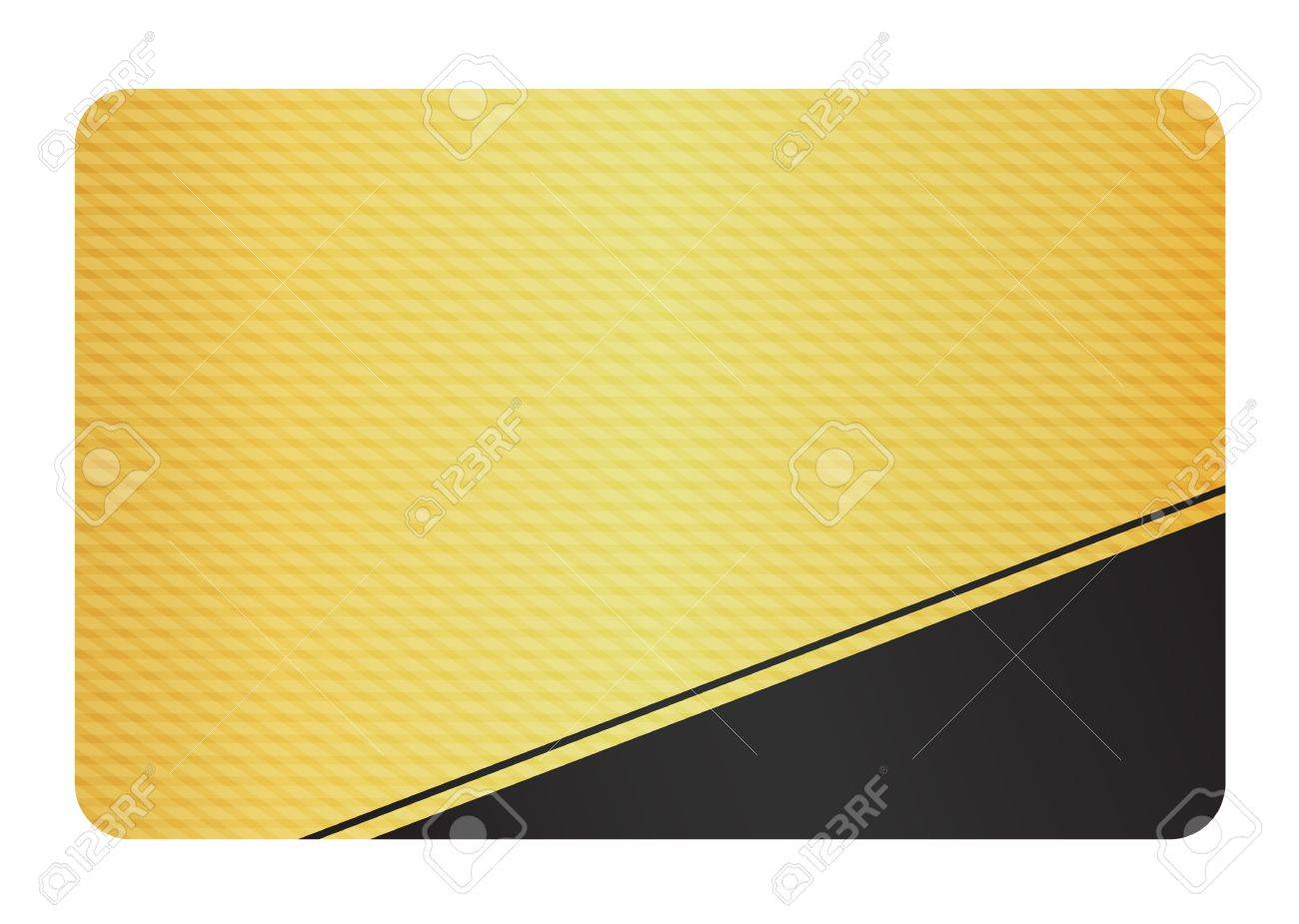 Golden Business Card with Modern Texture and Black Corner Stock Vector - 16823082