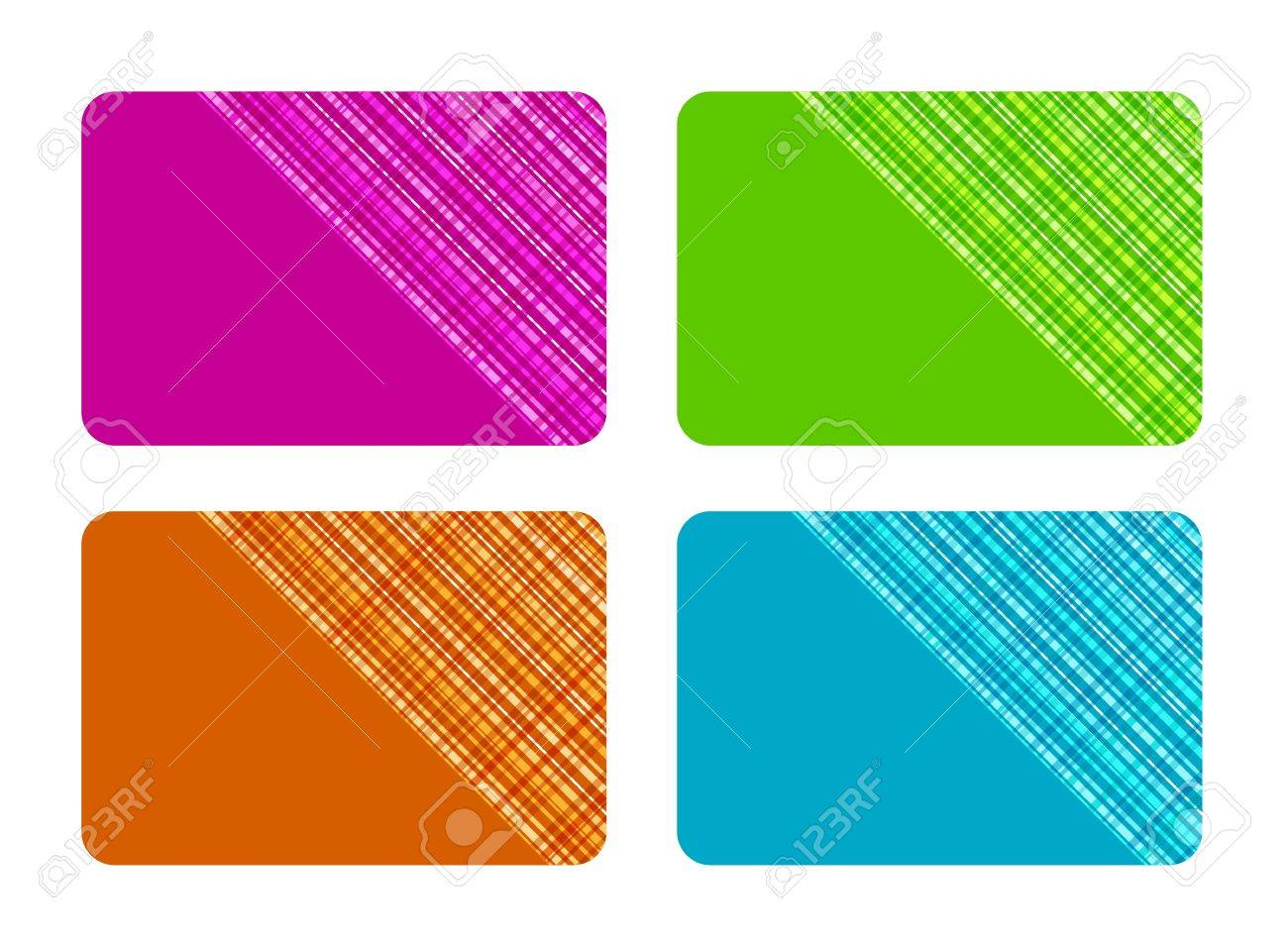 Business Cards with Checked Texture Stock Vector - 17209140