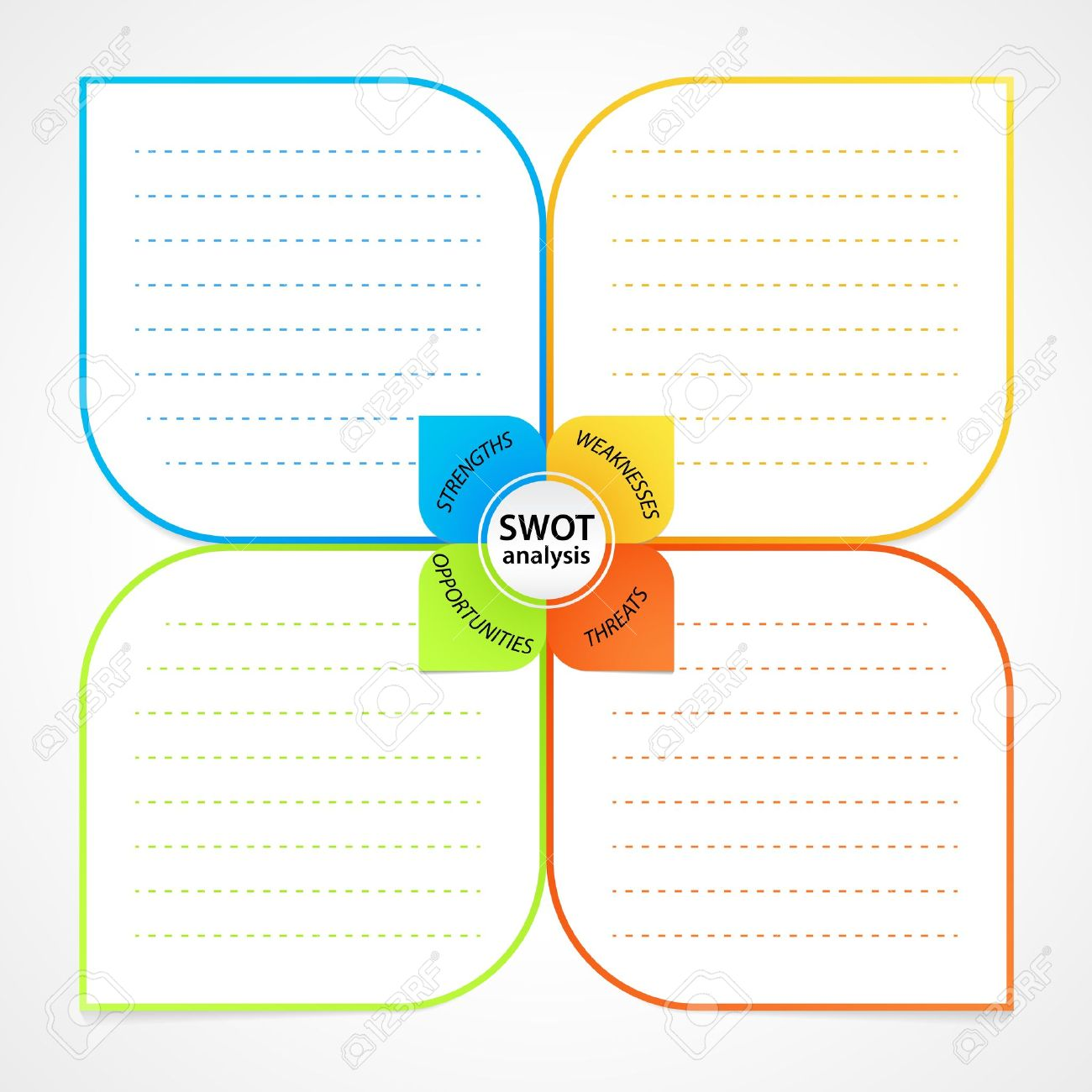 Sheet with swot analysis diagram wit space for own strengths sheet with swot analysis diagram wit space for own strengths weaknesses threats and opportunities ccuart Image collections