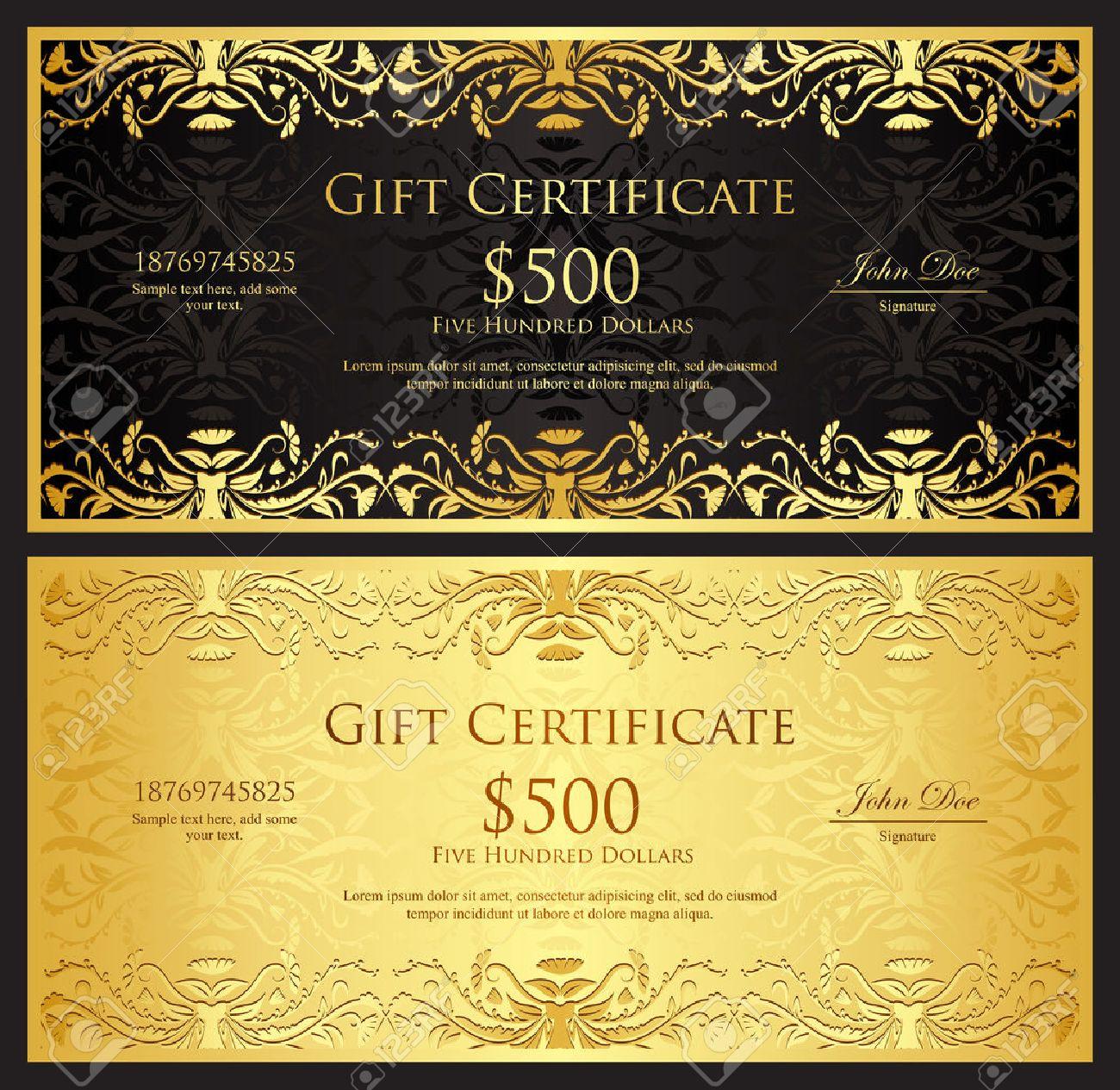 Золотой сертификат на подарок 29