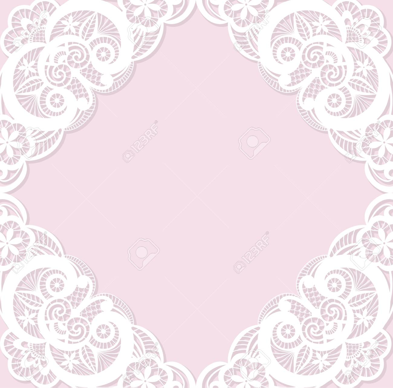 Classical wedding invitation template with white lace royalty free classical wedding invitation template with white lace stock vector 44166150 stopboris Choice Image