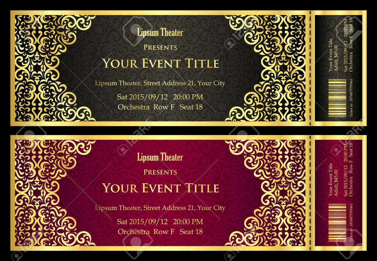 100 Ticket Templates – Theatre Ticket Template