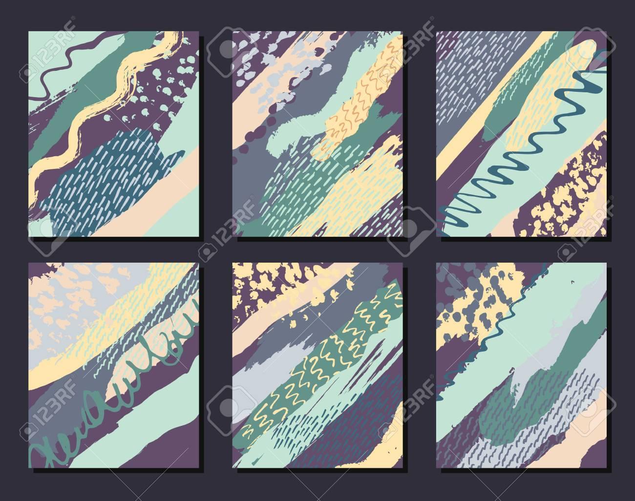 Colección De Modelos De Las Tarjetas Creativas Universales Artísticos Boda Aniversario Cumpleaños Día De San Valentín Fiesta Cartel Tarjeta