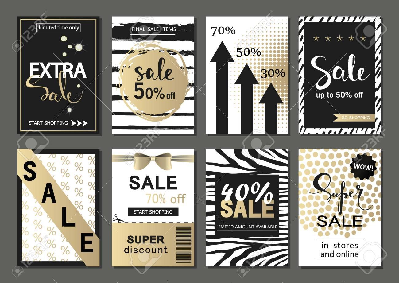 Big Set Of Social Media Sale Website And Mobile Banner Templates ...