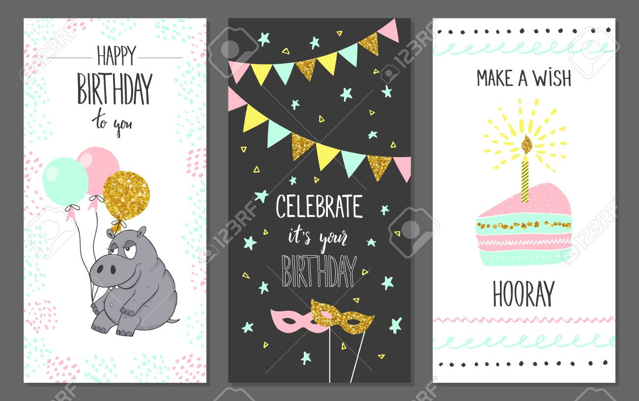 Happy Birthday Greeting Cards And Party Invitation Templates