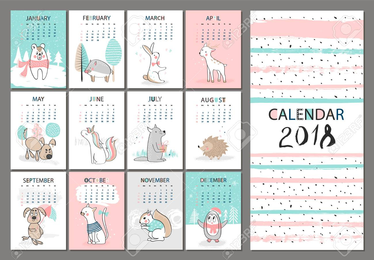 Creative Calendar Template from previews.123rf.com