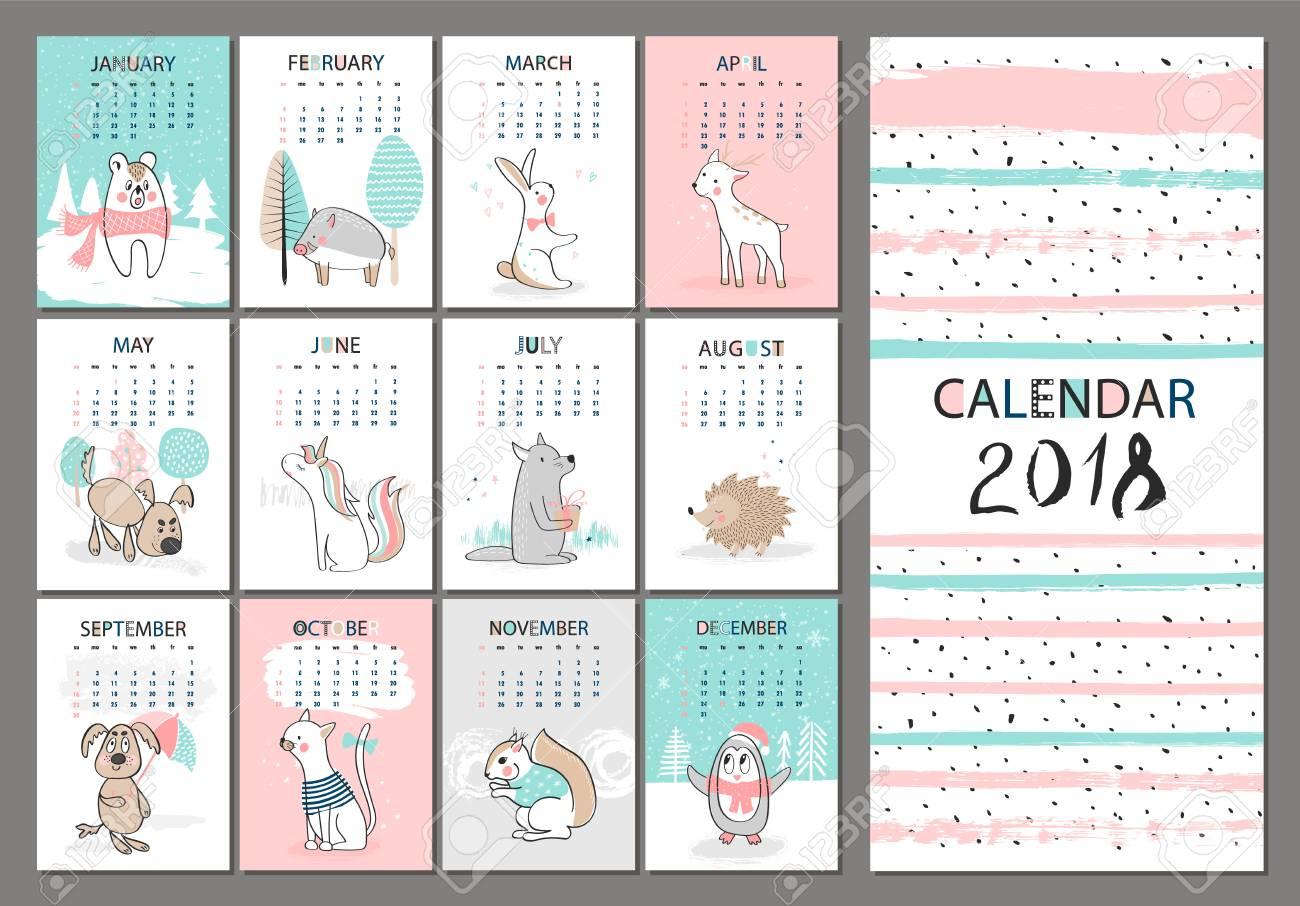 Cute Calendar February 2018 : Cute calendar template akba greenw