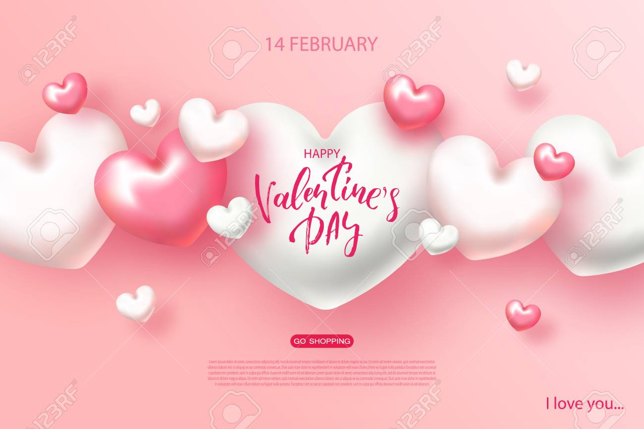 Happy Valentines Day Banner Beautiful Background With Hearts Royalty Free Cliparts Vectors And Stock Illustration Image 94565442 Download 5,917 valentines day banner free vectors. happy valentines day banner beautiful background with hearts