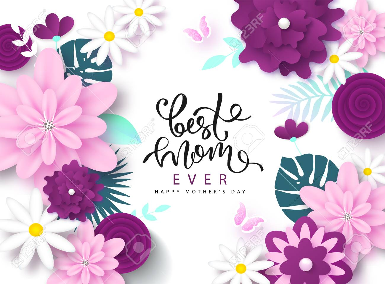 Happy Mothers Day Greeting Card Design Royalty Free Cliparts