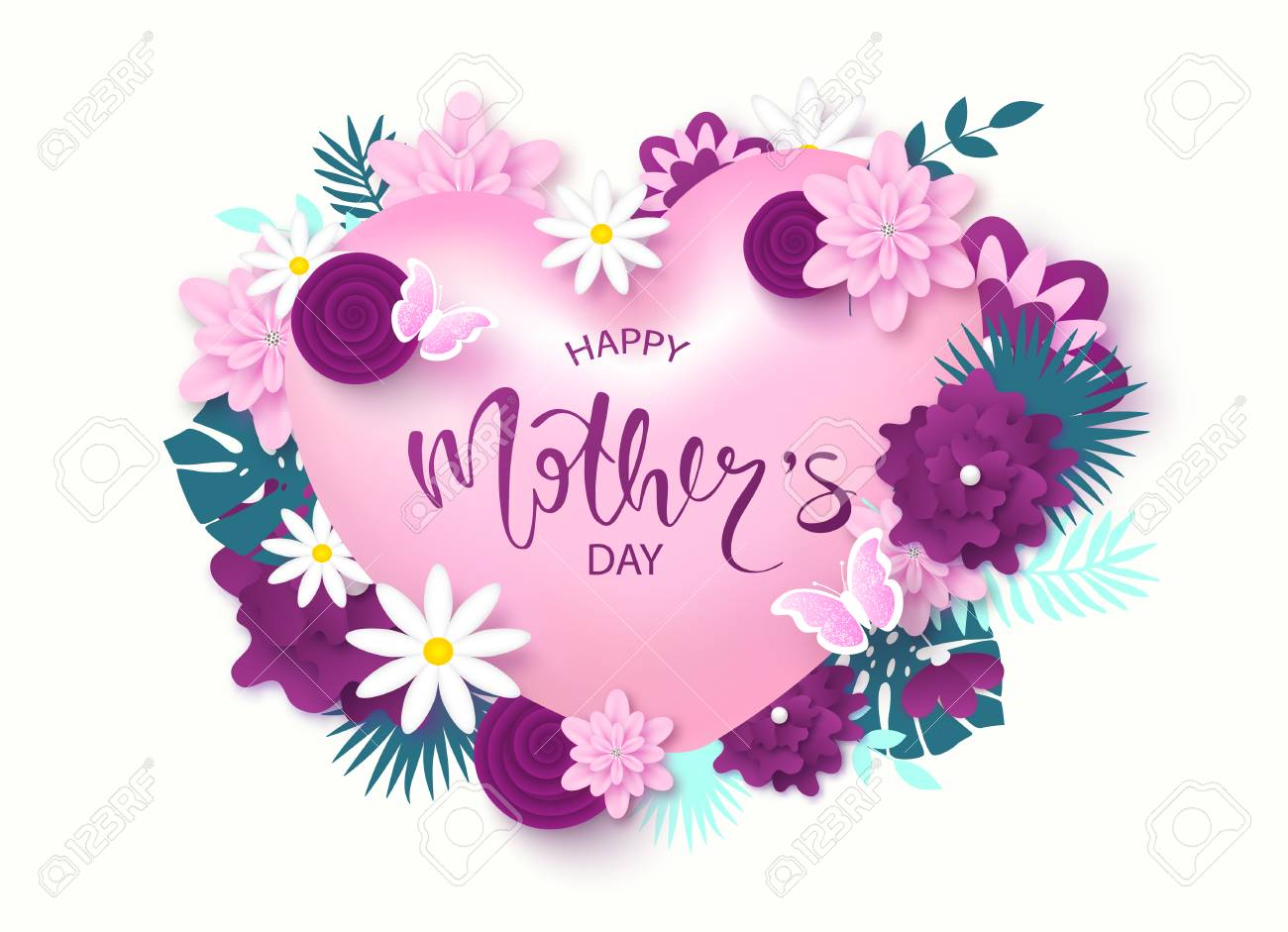 Happy mothers day greeting card design royalty free cliparts happy mothers day greeting card design stock vector 98997569 m4hsunfo