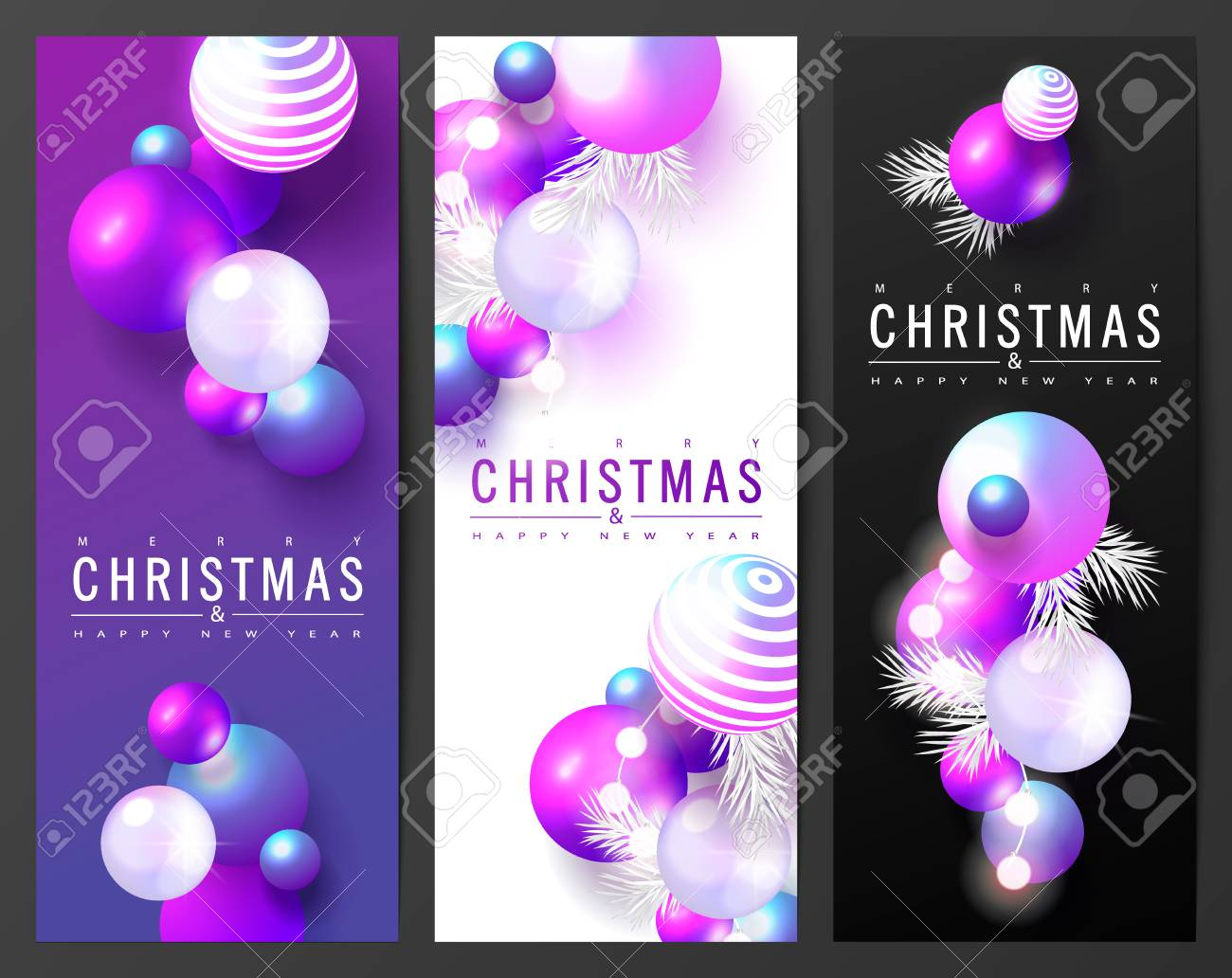 2019 Merry Christmas And Happy New Year Cards Collection With