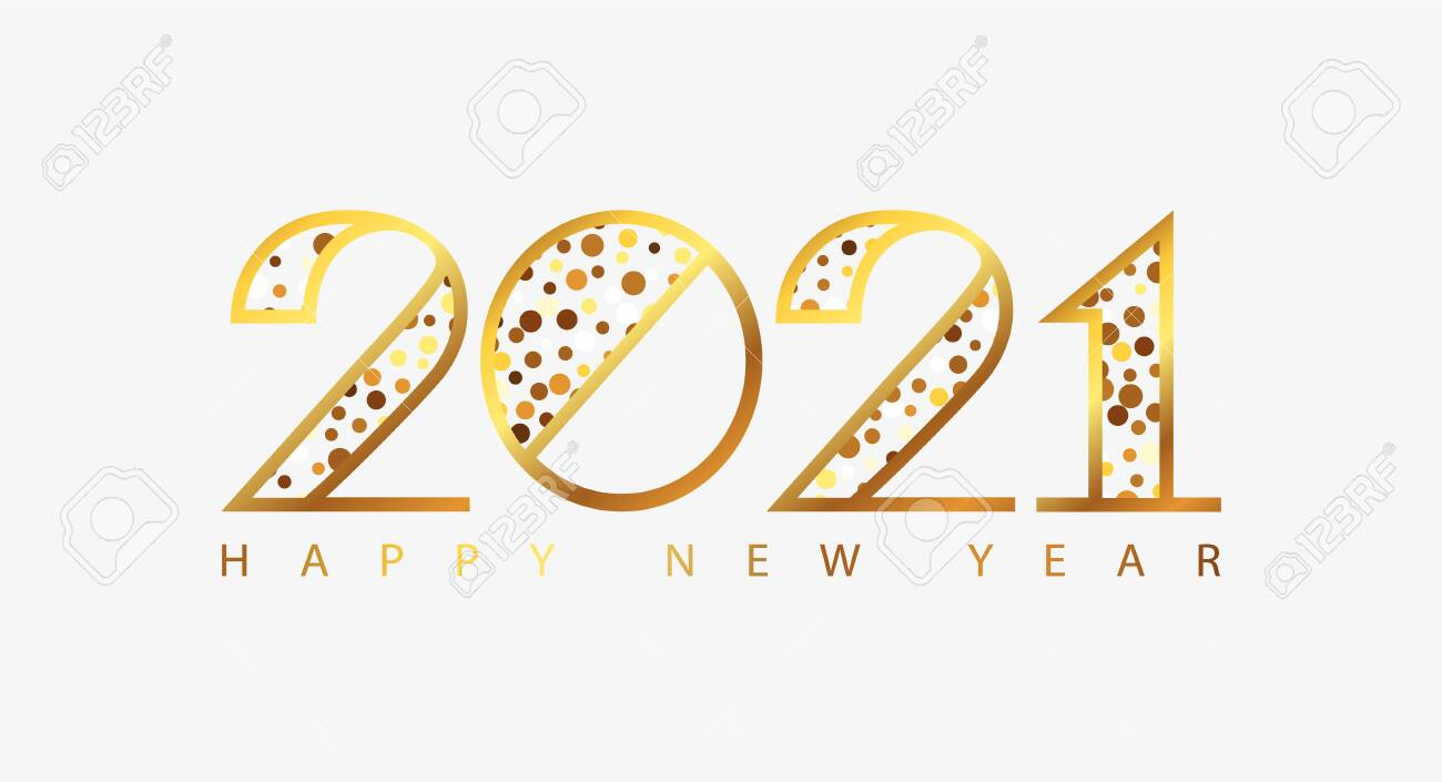 happy new year 2021 holiday greeting card with golden numbers royalty free cliparts vectors and stock illustration image 147417057 happy new year 2021 holiday greeting card with golden numbers