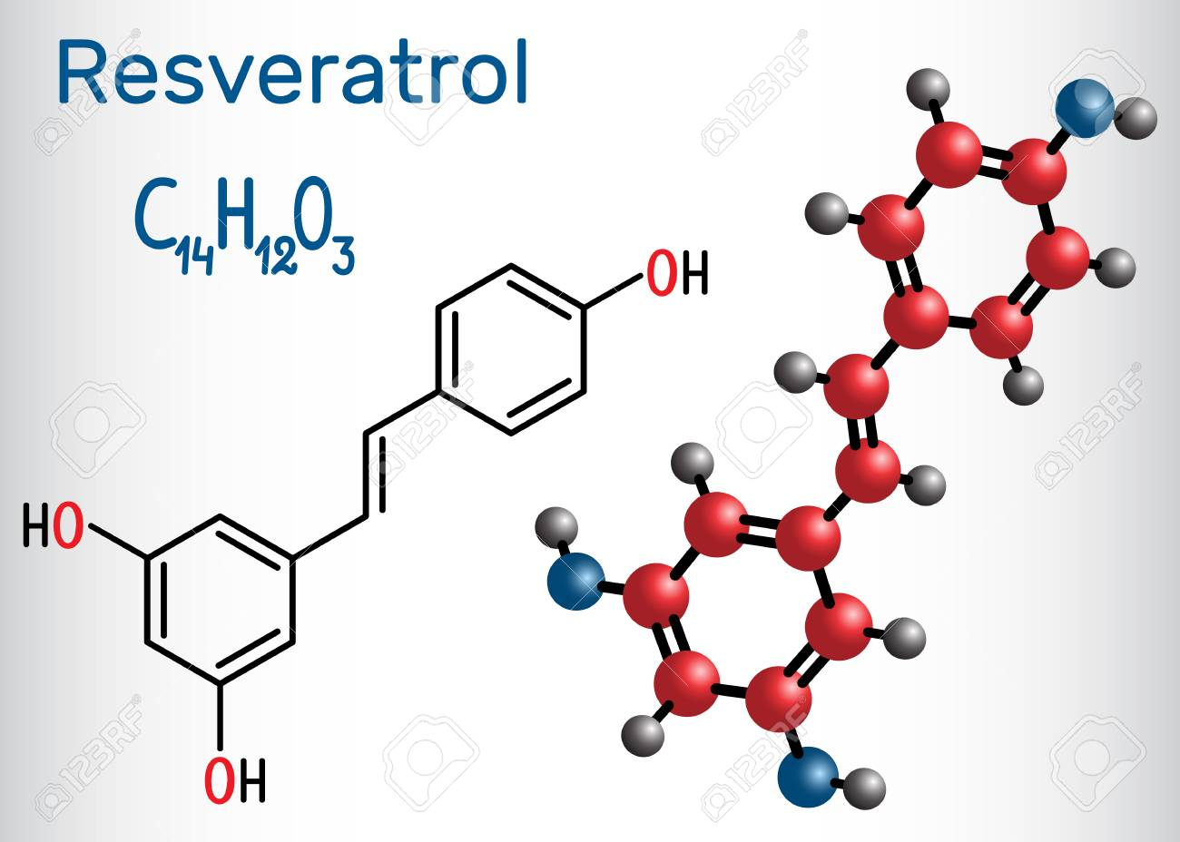 Resveratrol Molecule It Is Natural Phenol Phytoalexin