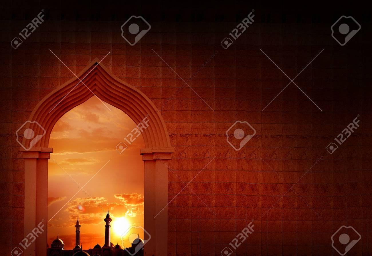Mosque background for ramadan kareem stock photography image - Ramadan Kareem Background Mosque Arch Stock Photo 79461666