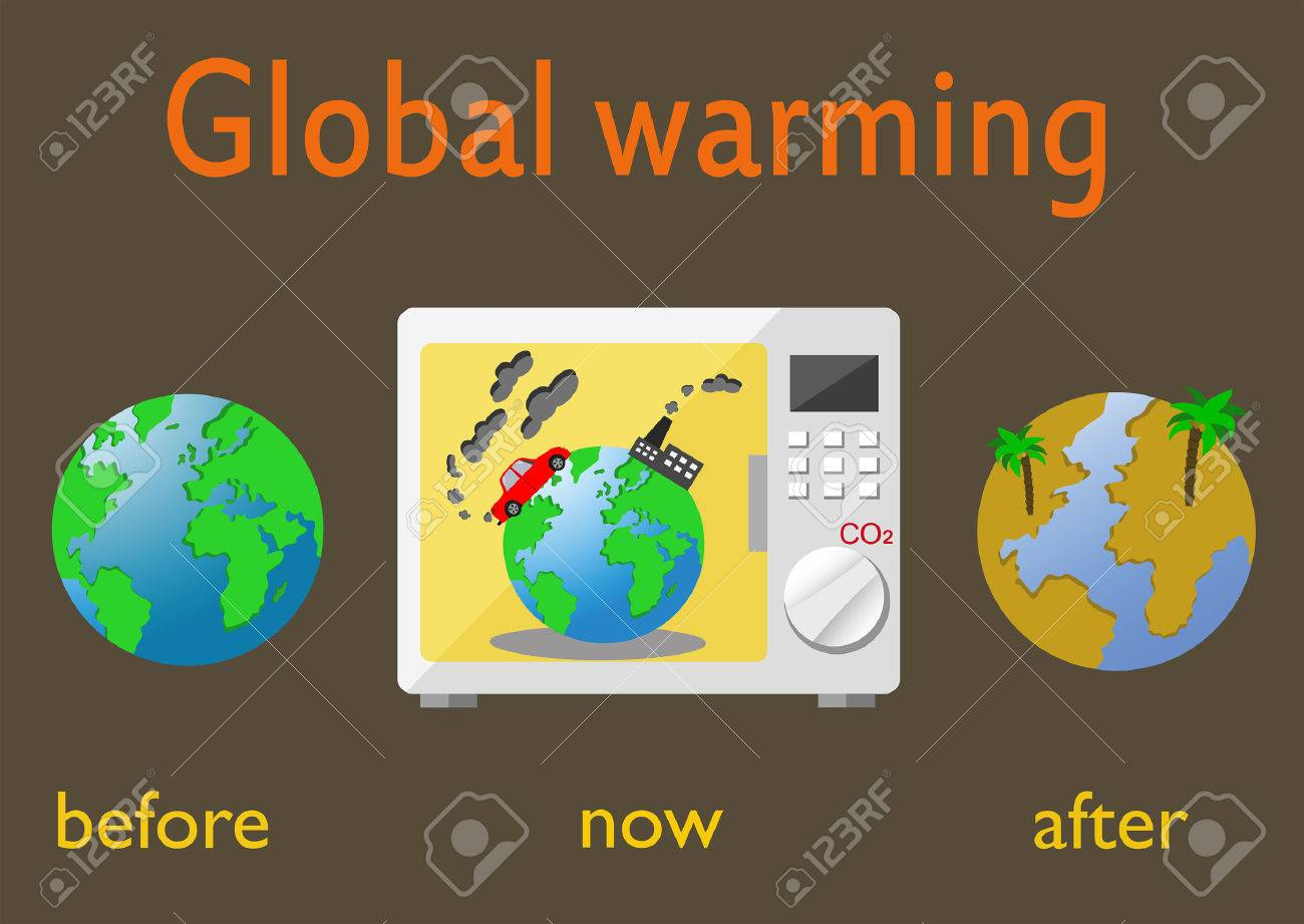 Global warming and climate change on earth infographics vector global warming and climate change on earth infographics vector illustration stock vector 49599767 pooptronica Images