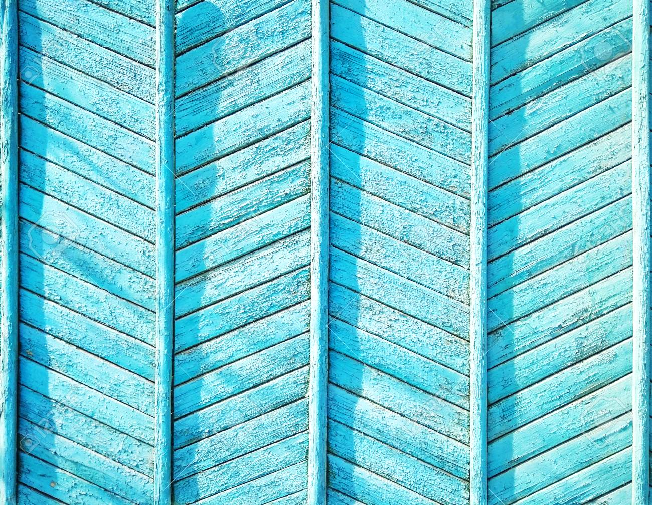 Blue Wood Textured Background Wooden Wall Or Fence With Zigzag