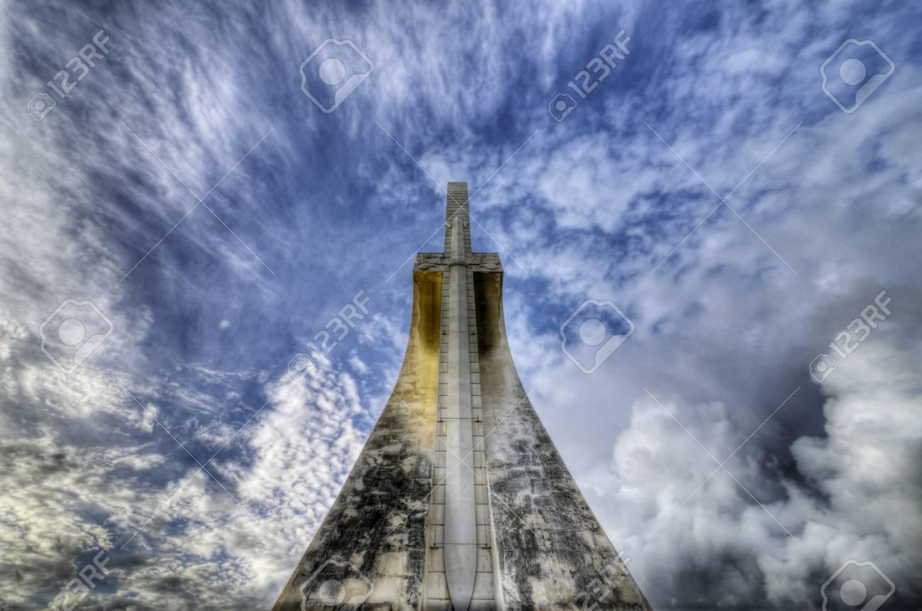 Back of the monument to Vasco da Gama in Lisbon Stock Photo - 17078692