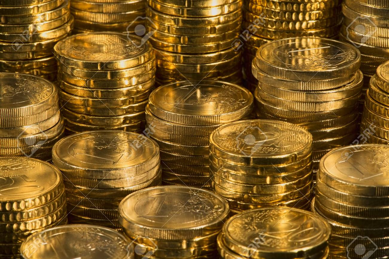 a view of many euro coins Stock Photo - 17724138