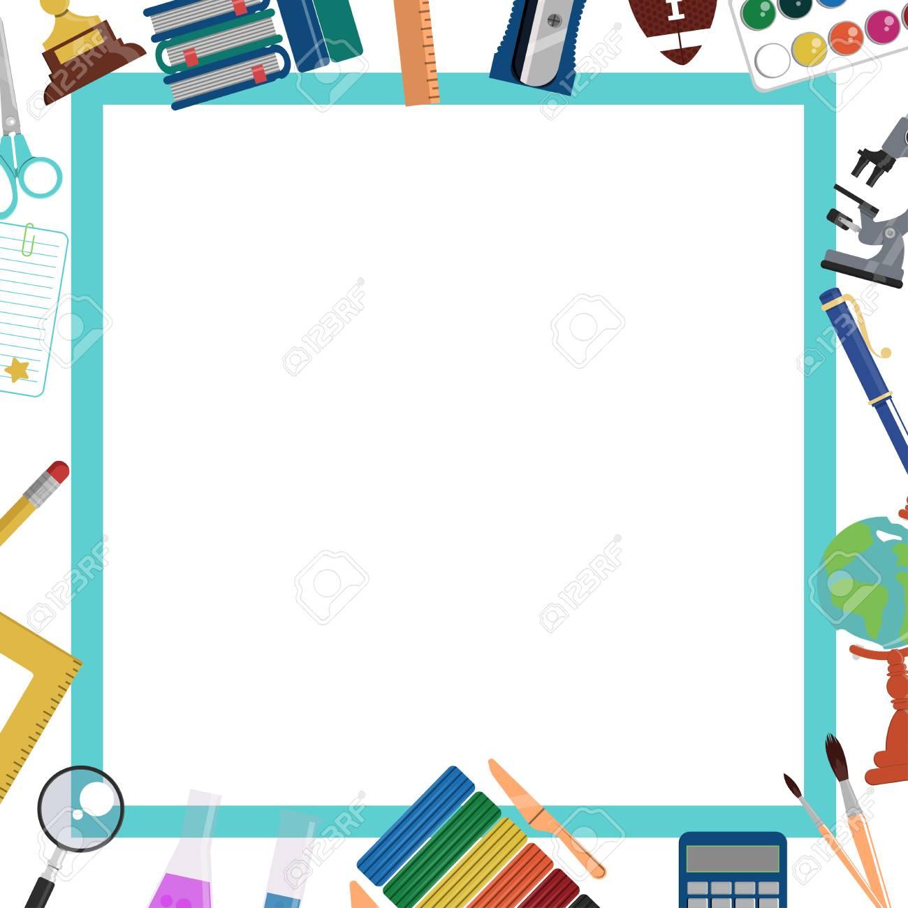 Backgroud De La Escuela Marco Y Plantilla Para El Diseño De La Educación