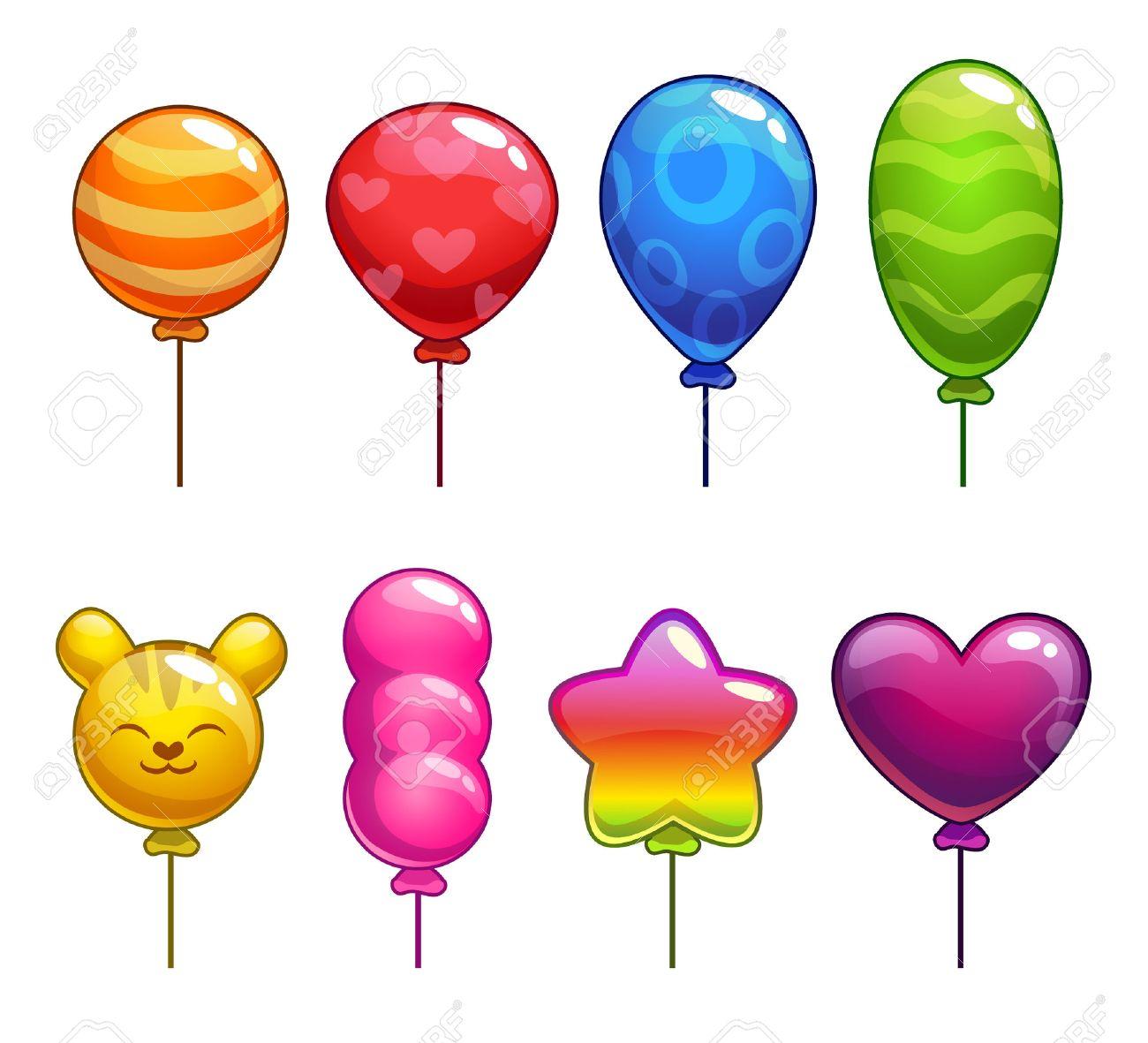 ballon de baudruche Ensemble de ballons mignons de bande dessinée avec différentes formes et