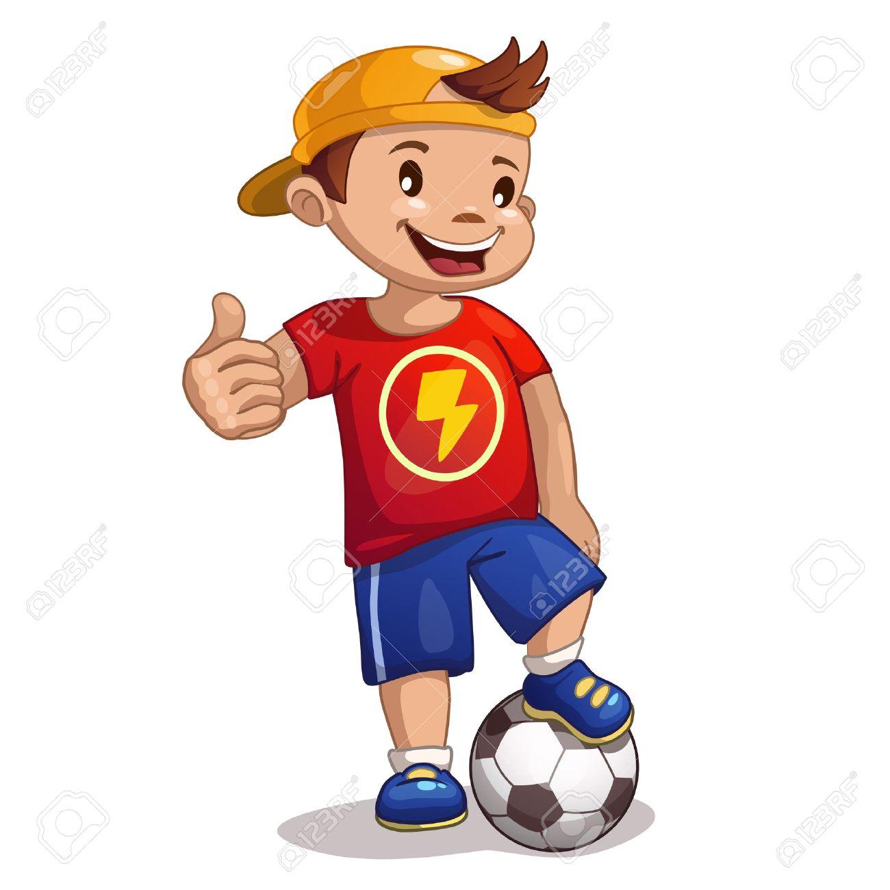 little cartoon boy with ball stock vector 41680442 - Cartoon Boy Images Free