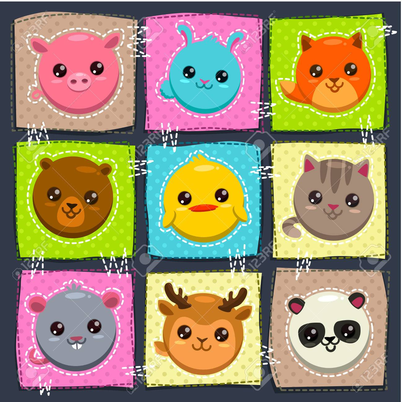 Image of: Photos Vector Vector Cute Childish Illustration With Funny Round Animals Blog Di Planetasia Altervista Vector Cute Childish Illustration With Funny Round Animals Royalty