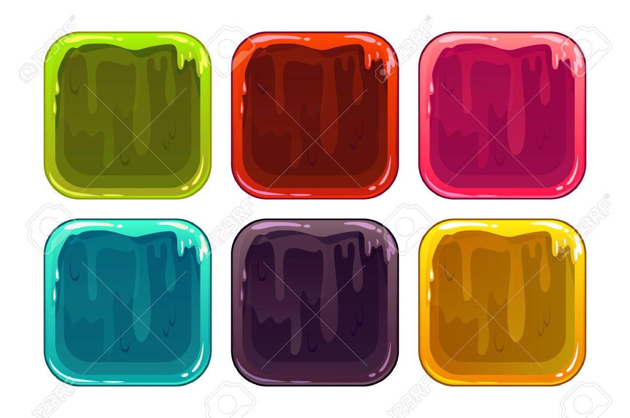 Marcos De Aplicaciones Fangoso Historieta, Vector Fondos De Colores ...