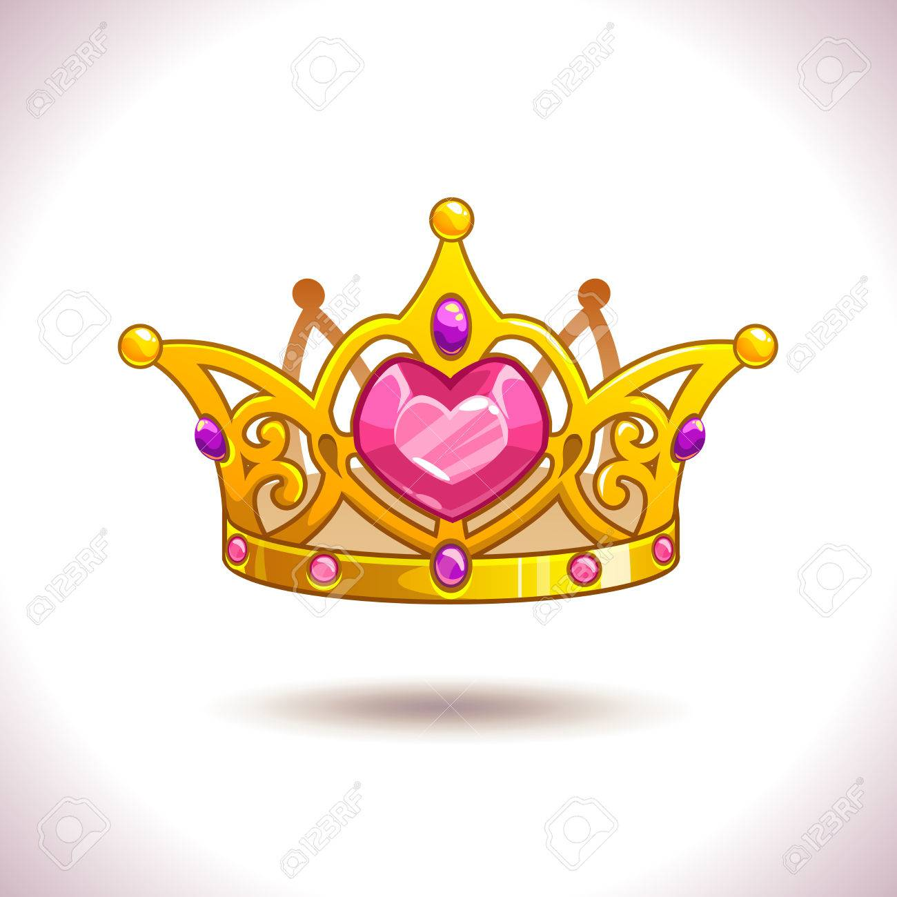 Fancy Cartoon Vector Golden Princess Crown Icon Isolated On Royalty Free Cliparts Vectors And Stock Illustration Image 59276673 71kb, princess crown cartoon drawing picture with tags: fancy cartoon vector golden princess crown icon isolated on