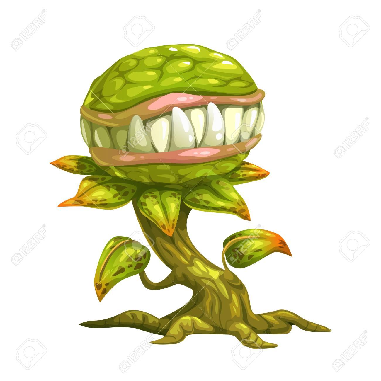 Monster plant illustration. - 75436352