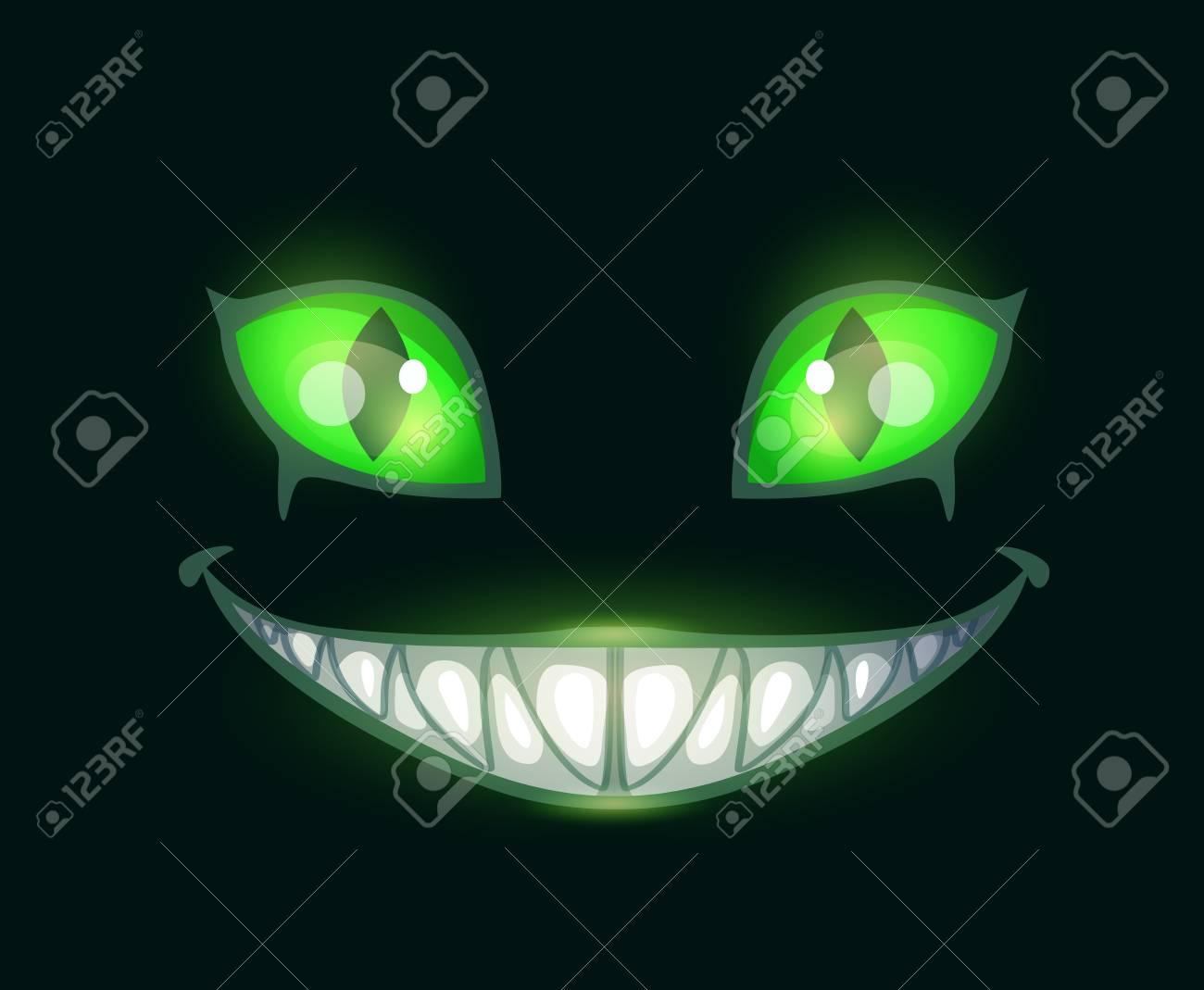 Cartoon scary monster face - 90273539