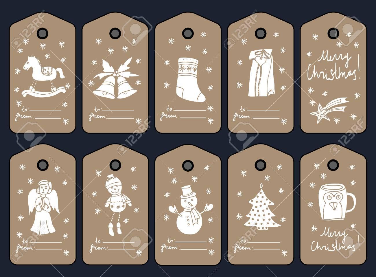 Único Plantilla De Etiquetas De Navidad Cresta - Ejemplo De ...