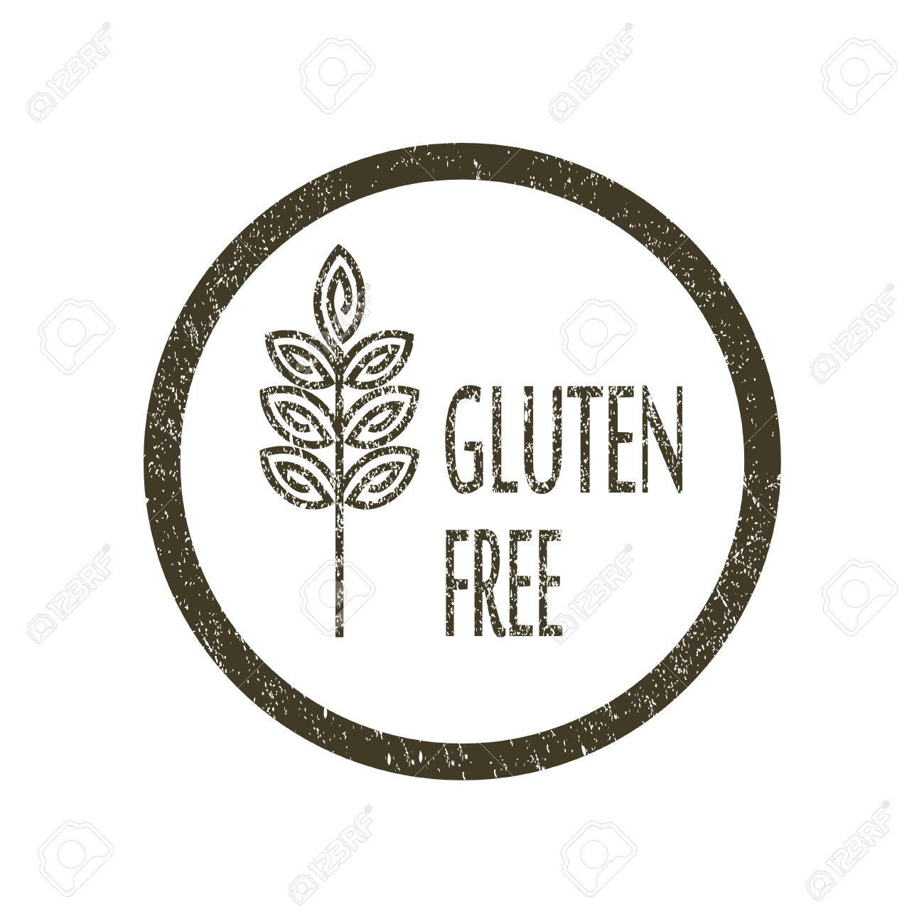 Vector abstract emblem,outline monogram, gluten free symbol,