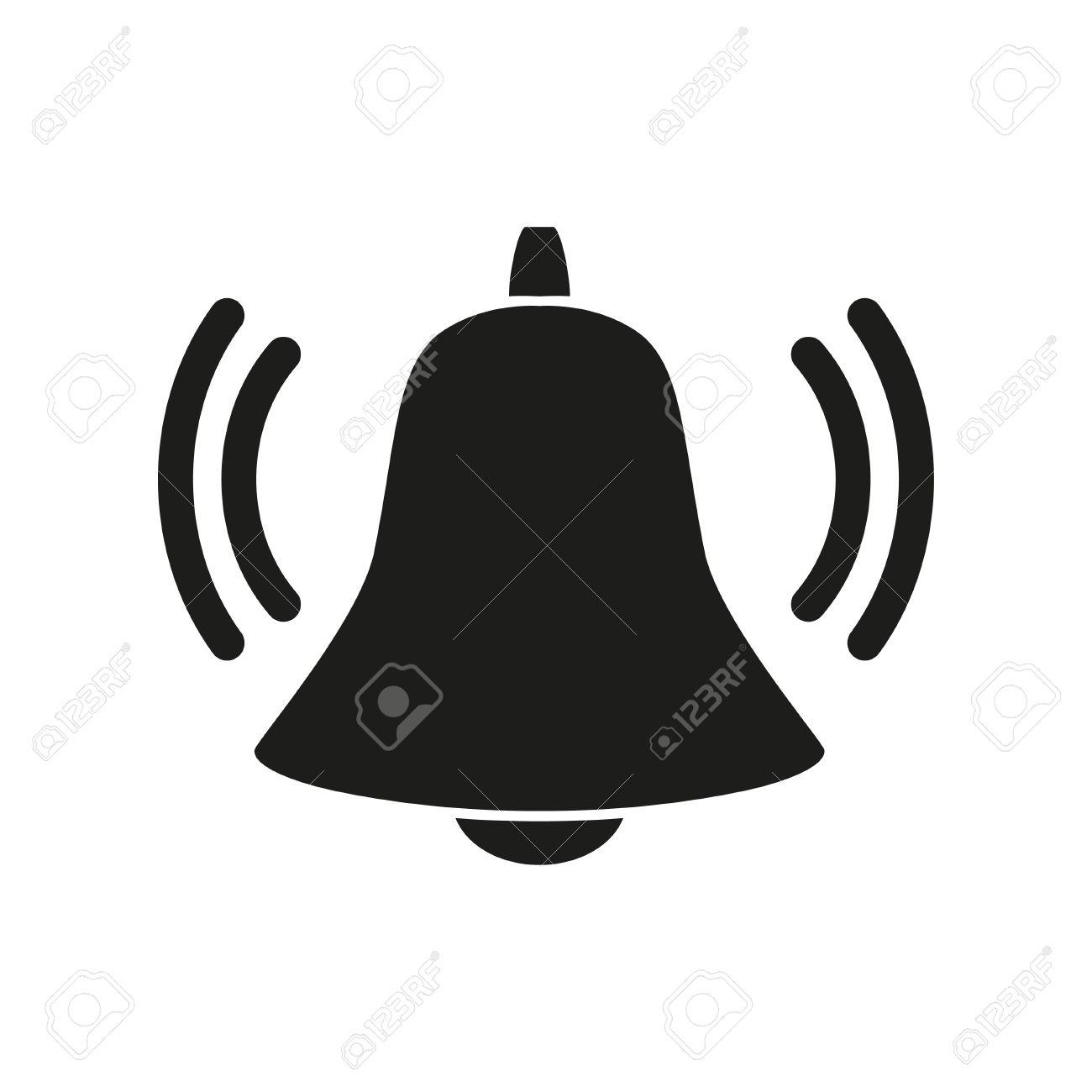 Vector Bell Icon Symbol  Simple black icon