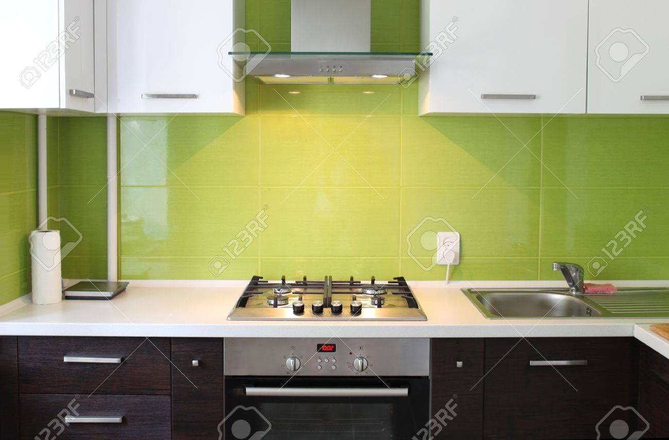 modern domestic Kitchen, stylish interior design Stock Photo - 10089837