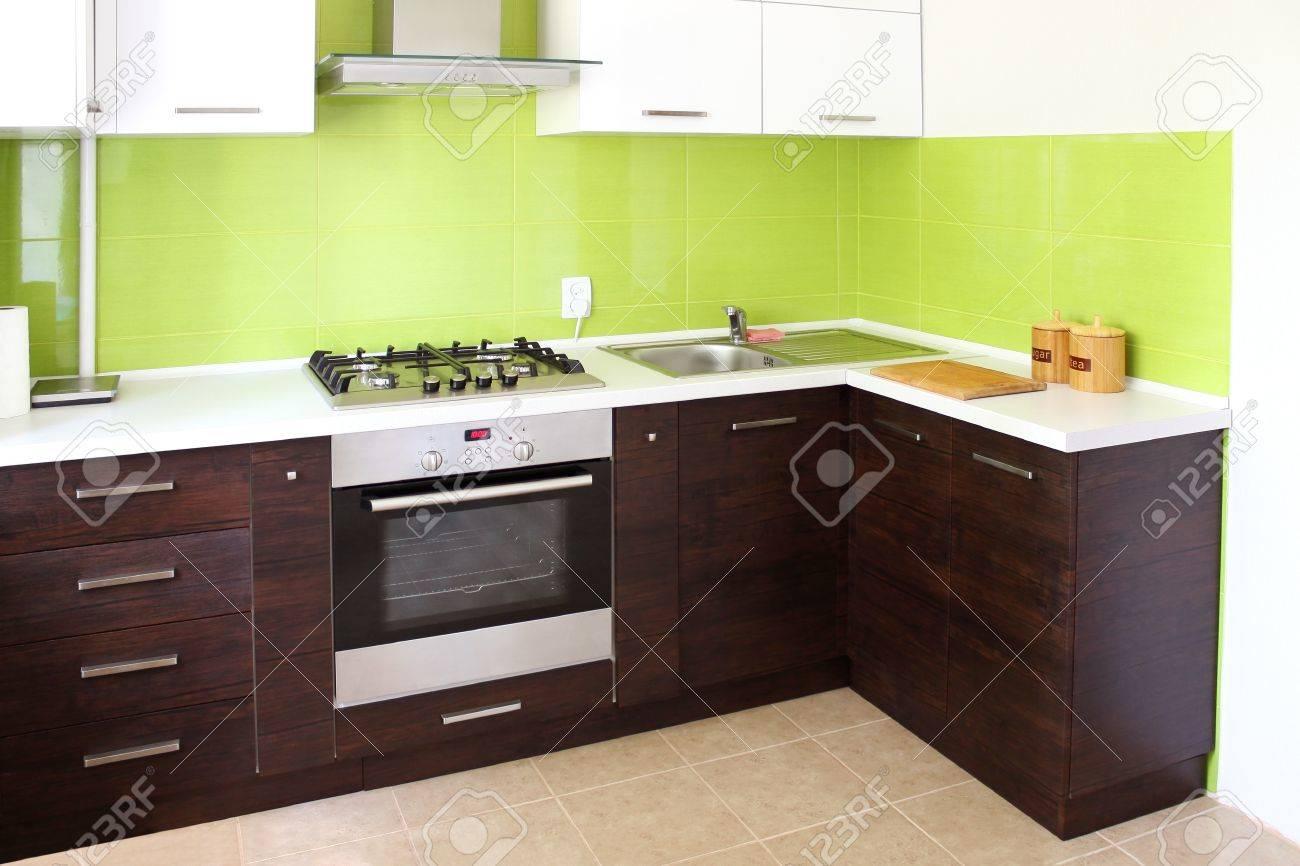 modern domestic Kitchen, stylish interior design Stock Photo - 10483664