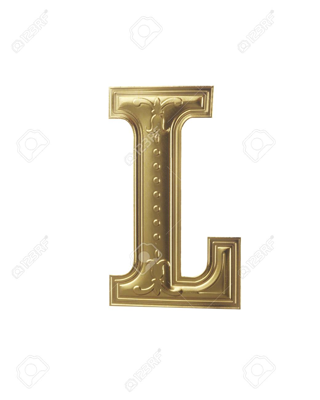 stock image of gold color alphabet with clipping path - 117804134