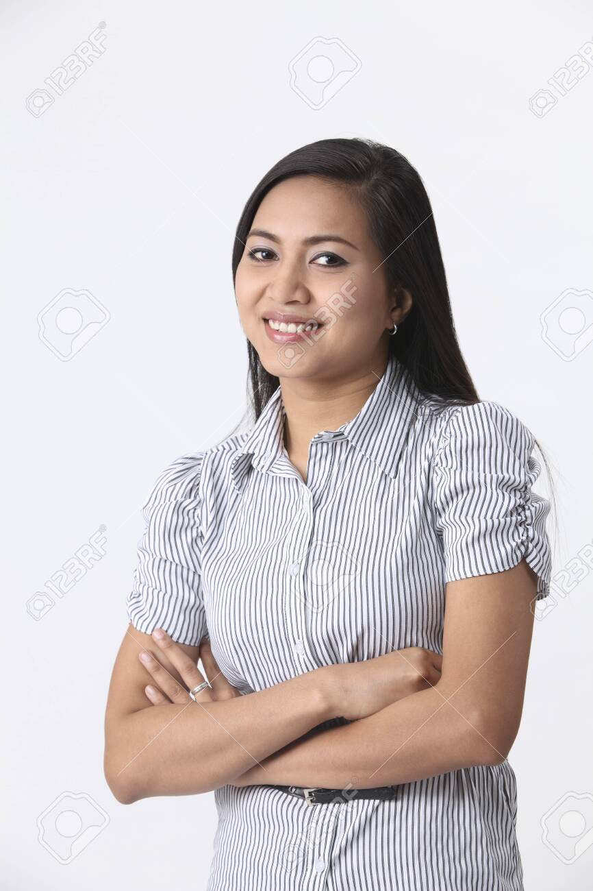 Malay Woman With Hands Crossed Stock Photo Picture And Royalty Free Image Image 119614063