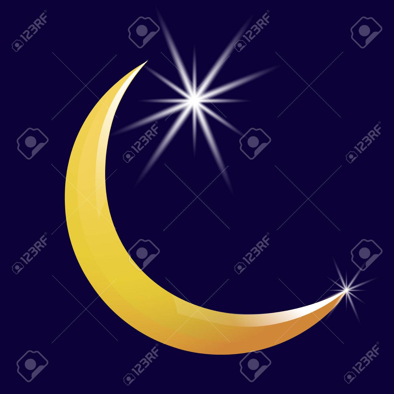 Crescent moon and star vector icon vector illustration royalty free crescent moon and star vector icon vector illustration stock vector 63463188 biocorpaavc Gallery