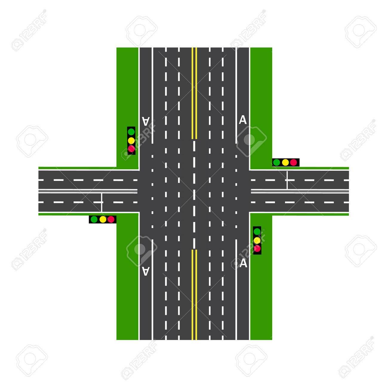 Groß Straßenkreuzung Diagramm Zeitgenössisch - Elektrische ...
