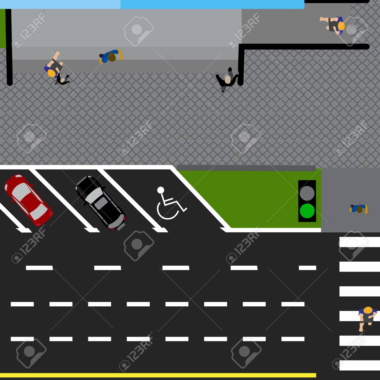 Grundstück Straße, Autobahn, Straße, Mit Dem Laden. Mit Einer ...