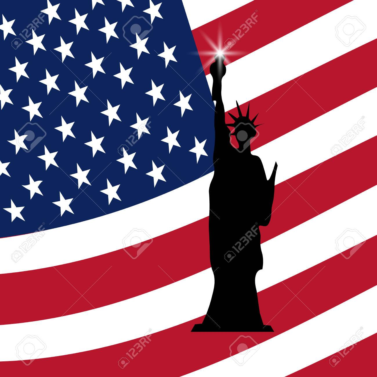 American Independence Day The Statue Of Liberty Us Symbols