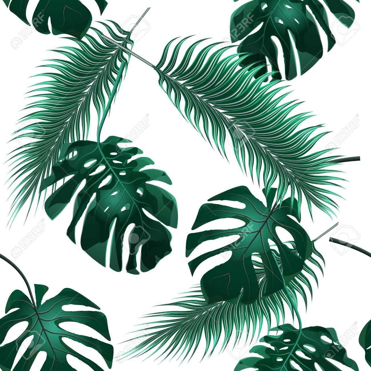 Tropical Palm Leaves Jungle Thickets Seamless Floral Wallpaper Royalty Free Cliparts Vectors And Stock Illustration Image 76230241 Download all photos and use them even for commercial projects. tropical palm leaves jungle thickets seamless floral wallpaper