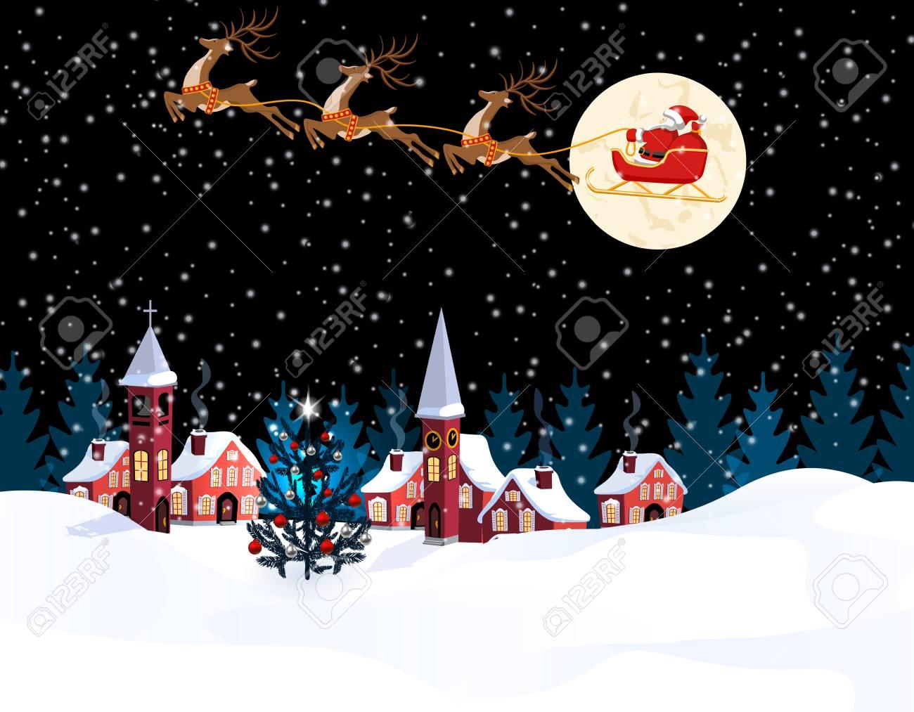 Capodanno A Casa Di Babbo Natale.Immagini Stock Natale Di Capodanno Un Immagine Di Babbo Natale E