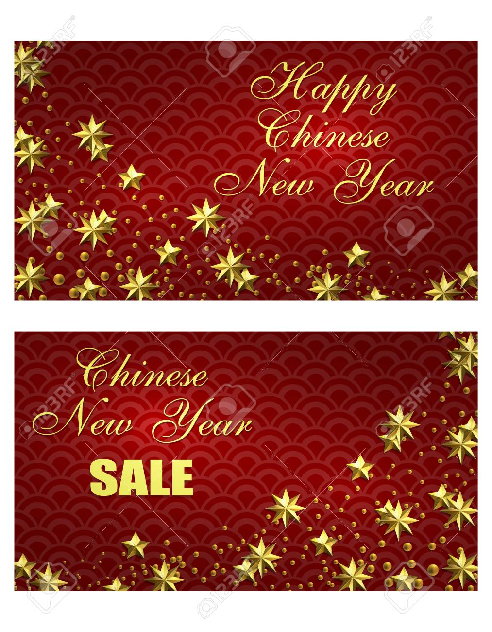 Chinese New Year. Flyer, Business Cards, Invitations To The Sale ...
