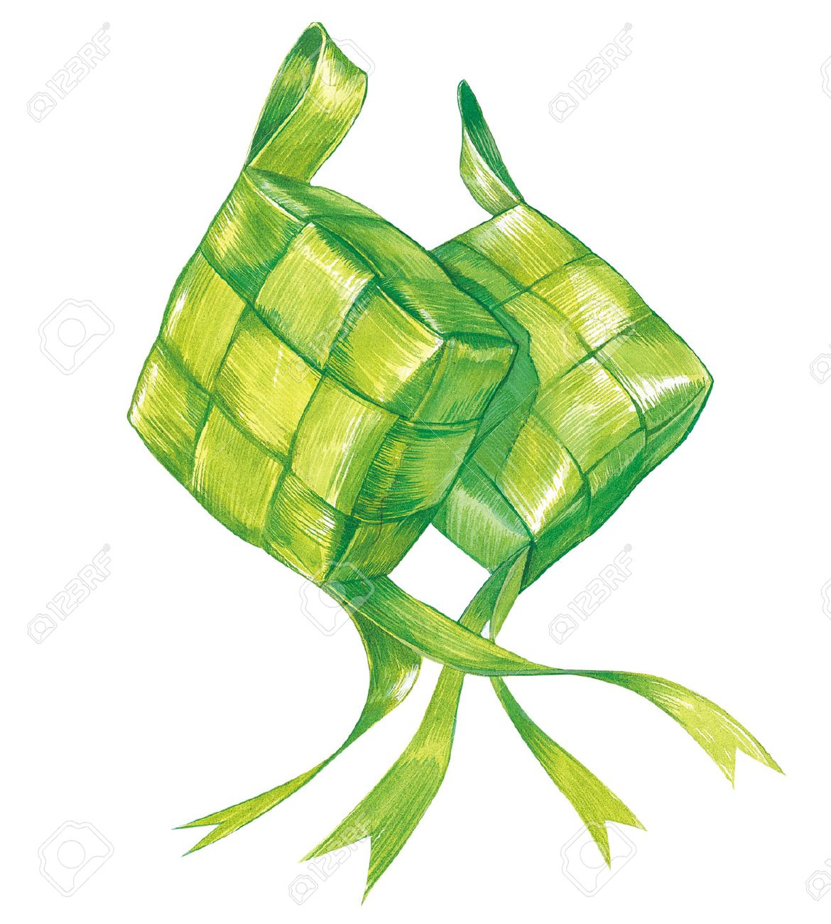 Ketupat Stock Photo