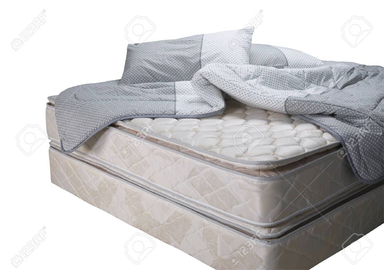 Bed mattress with pillow and blanket - 51331825